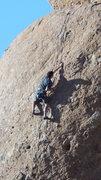 "Rock Climbing Photo: A climber running laps on TR solo, on ""Boneya..."