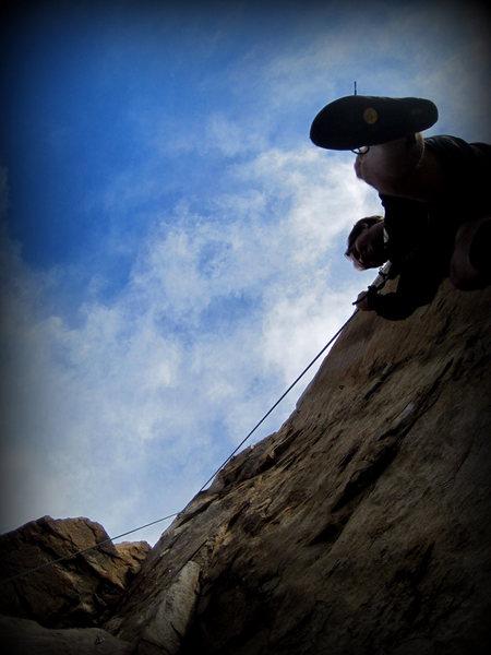 Rock Climbing Photo: 5.9 at Rock Mountain, Fallbrook.