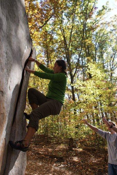 Rock Climbing Photo: Una on the flake
