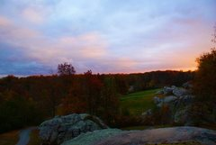 Rock Climbing Photo: Looking back on the course at sunset