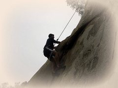 Rock Climbing Photo: Holding onto the under cling.