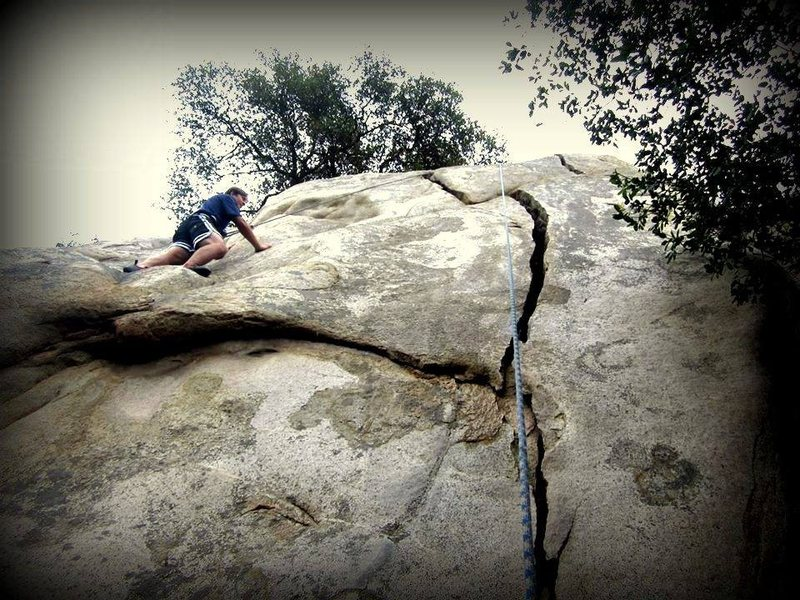Rock Climbing Photo: Good feet here but not great hand holds.  Your han...