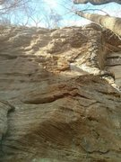 Rock Climbing Photo: Guernica (11-, or 12b to upper anchor)