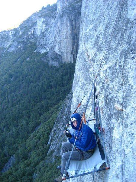Rock Climbing Photo: Salathe wall! chilly marnin
