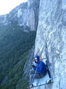 Rock Climbing Photo: Salathe wall! chilly marnin