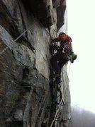 Rock Climbing Photo: 2nd pitch GM