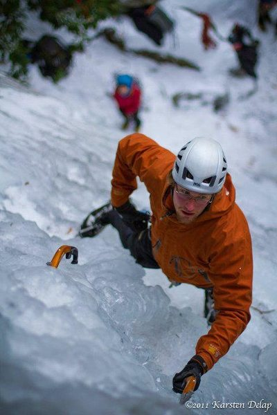 Rock Climbing Photo: southeastern ice! it exists!