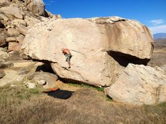 Rock Climbing Photo: Almost through the slab!