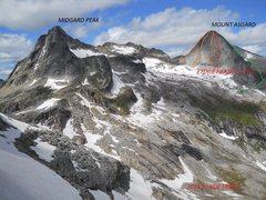 Rock Climbing Photo: Taken from Gimli-Nisleheim col.