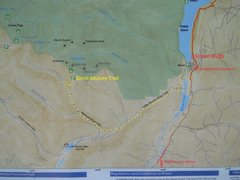 Rock Climbing Photo: Photo of bulletin board map at Gimli-Mulvey trail-...
