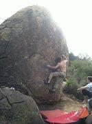 Rock Climbing Photo: Me starting up Frigidaire.