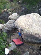 Rock Climbing Photo: Jack, bumping.