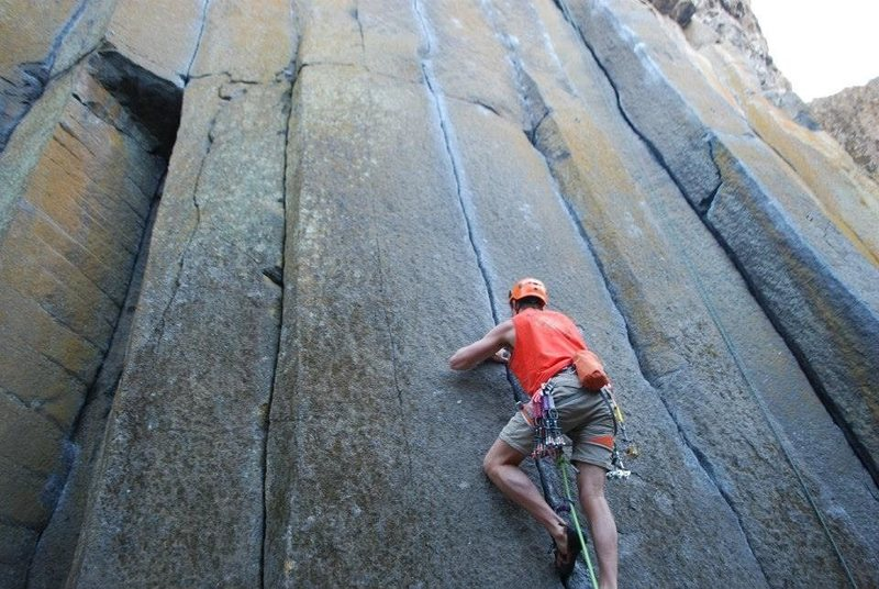 Rock Climbing Photo: Raw hide