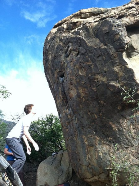 Rock Climbing Photo: Setting up for the leap...