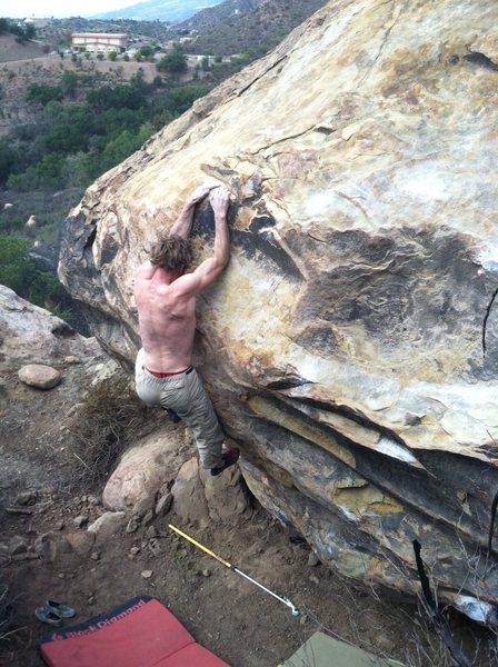 Rock Climbing Photo: Snag ledge, and mantle!