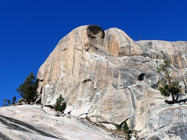 Trapper Dome (South Face) showing the area around the Carson-Kodas Arete, Courtright Reservoir