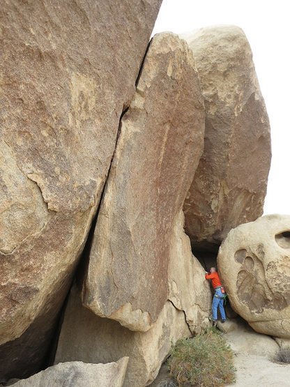 Rock Climbing Photo: The crack on the left is Zondo's Perks. Rick is ch...
