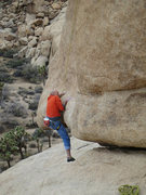 Rock Climbing Photo: Rick starting EBGB's with the mantle move.
