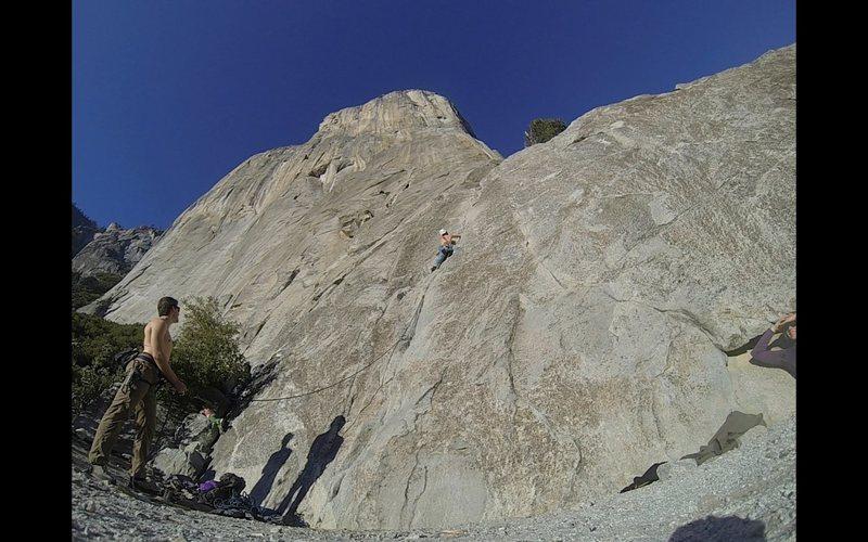 Rock Climbing Photo: Cruising up Pine Line with 3,000 feet of granite h...