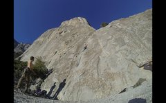 Rock Climbing Photo: Cruising up Pine Line with 3,000 feet of granite h...