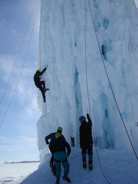Rock Climbing Photo: Nice ice (Feb 2010)