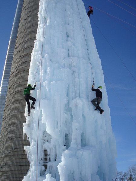 Silo ice, February 2010