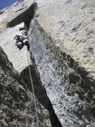 Rock Climbing Photo: bottom of the crux pitch. Fine stone...