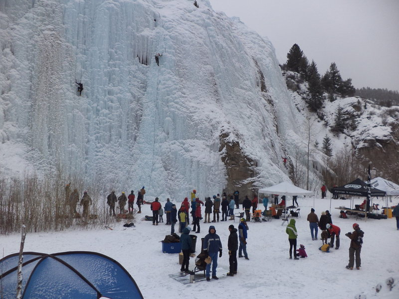 Rock Climbing Photo: Lake City ice fest.