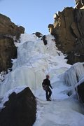 Rock Climbing Photo: Climber at the end of the rap. You can toprope thi...