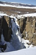 Rock Climbing Photo: North Clear Creek Falls as seen from the parking a...