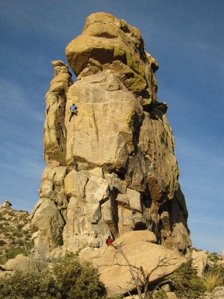 Rock Climbing Photo: David Merin on the last route of the day.