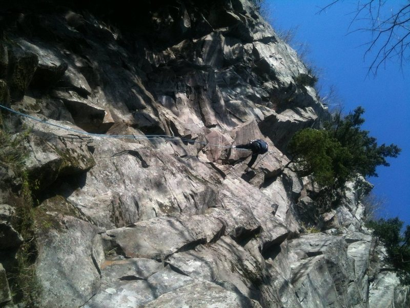 Rock Climbing Photo: Rapping down form the stairway to heaven anchor.