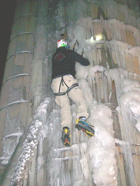 Rock Climbing Photo: ice on Friday night