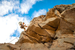 Rock Climbing Photo: Flynn at the anchors for The Pyramind (upper most ...