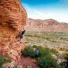 Sport climb at Calico Basin, not sure what the name of the route is, was a 5.8