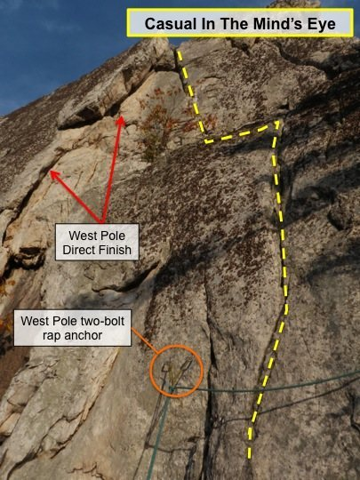 Rock Climbing Photo: From the ledge above West Pole and Conn's West Dir...