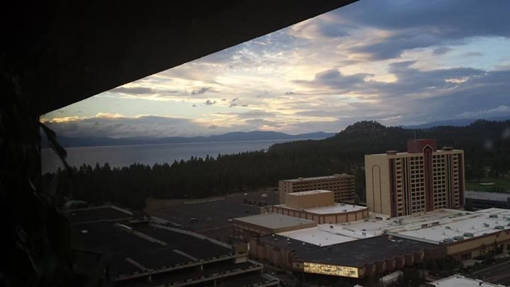 Rock Climbing Photo: Tahoe from our hotel room ( $40!)