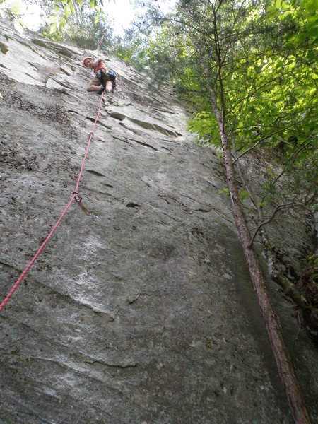 Rock Climbing Photo: Andy Weinmann on the first ascent of Touch and Go.