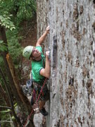 Rock Climbing Photo: Zak Roper working into the crux on Touch and Go.