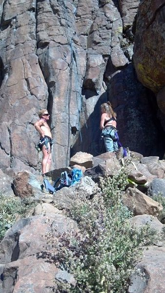 Rock Climbing Photo: Climbing at North Table with some friends.  Winter...