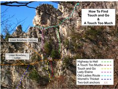 Rock Climbing Photo: Routes in and around Highway To Hell and Touch and...