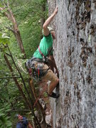 Rock Climbing Photo: Zak Roper pulling the final crux moves of Touch an...