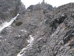 Rock Climbing Photo: View from the first col belay. The second col bela...
