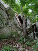 Rock Climbing Photo: Start of Lost and Found, on the face just under th...