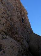 Rock Climbing Photo: Bill Parmenter leading Gem.