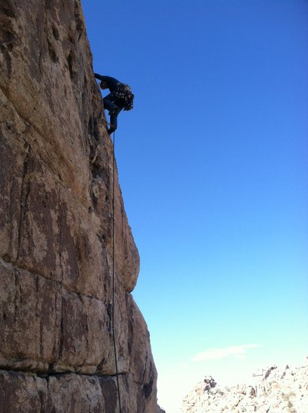 Rock Climbing Photo: Bill P topping out on Ain't Nothing.