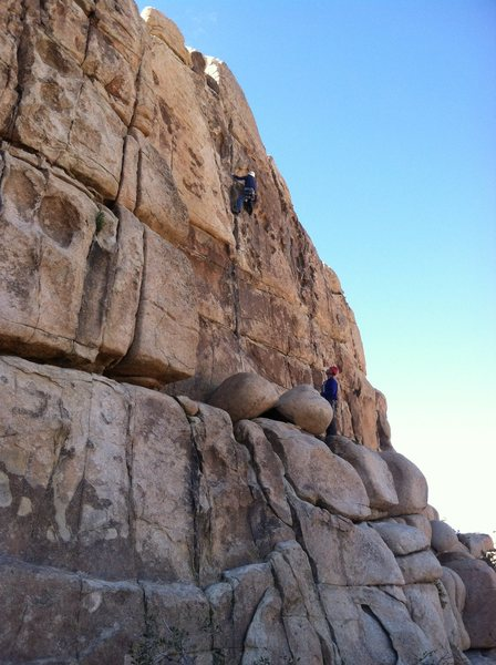 Rock Climbing Photo: Bill Parmenter leading Almost Vertical.