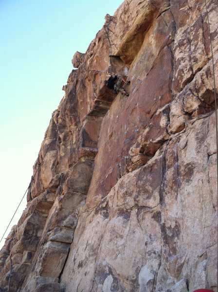 Rock Climbing Photo: Congratulations to Steve Thomas for flashing the r...