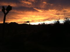 Rock Climbing Photo: Sunset from Reggie Dome.