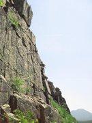 Rock Climbing Photo: Top corner in red